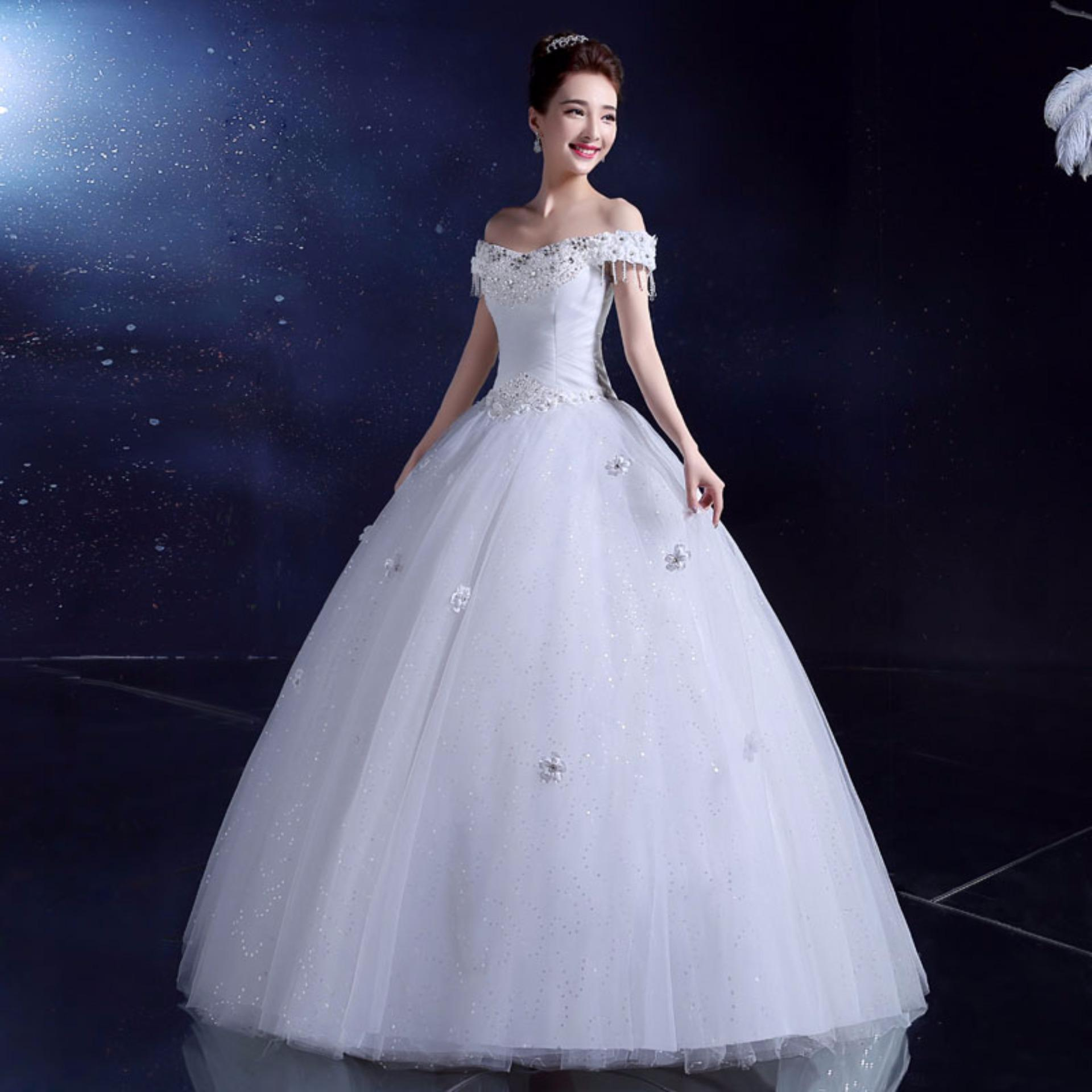 Philippines | Slim Waist Ivory Ball Gown Bridal Dress Leondo Wedding ...