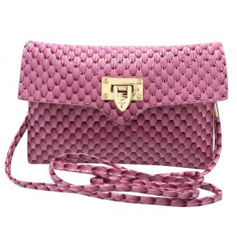 Sling Bag Ladies Decorative Leather Clip Lock (Pink) Price Philippines