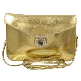 Sling Bag Leather Ladies Casual (Gold)