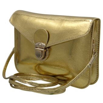 Sling Bag Leather Ladies Casual (Gold) - 2