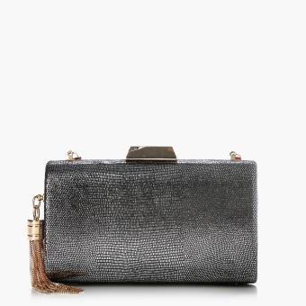 SM Accessories Ladies Evening Clutch (Silver)