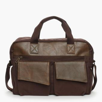 SM Accessories Mens Messenger Bag (Brown)