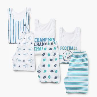 SM Basic Boys 6-piece Football Champion Tank and Shorts Set (M) Price Philippines
