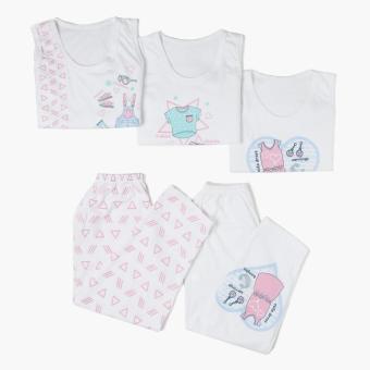 SM Basic Girls 5-Piece Cute OOTD Tank and Pajama Set (Size XL)