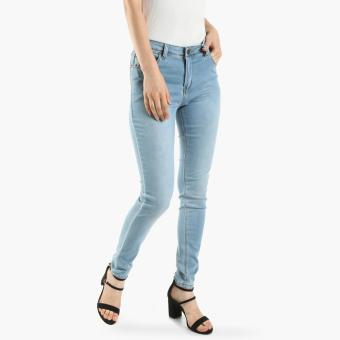 SM Woman Bleached Skinny Jeans (Light Blue)