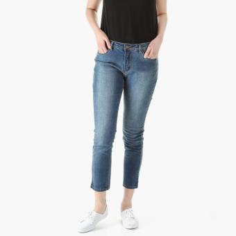 SM Woman Bleached Slim Jeans (Blue)