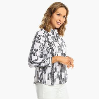 SM Woman Career Bow-Collared Blouse (White)