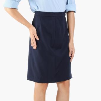 SM Woman Career Pencil Skirt (Navy Blue)