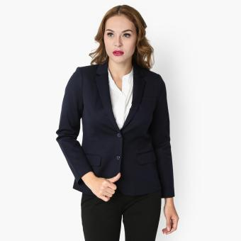 SM Woman Career Single Breasted Blazer (Navy Blue) Price Philippines