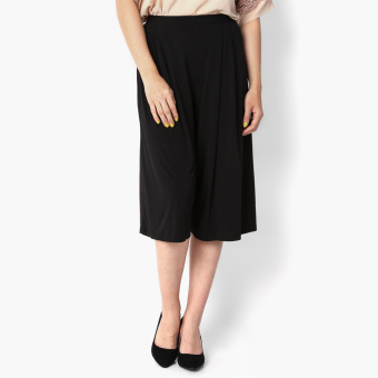 SM Woman Pleated Wide-leg Culottes (Black) Price Philippines