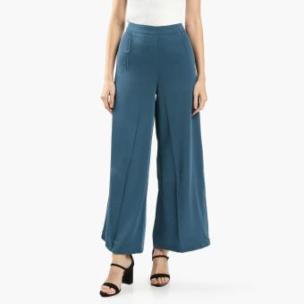 SM Woman Pleated Wide-Leg Pants (Teal) Price Philippines