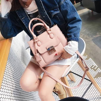 Small Square female New style large bag (Lotus pink)