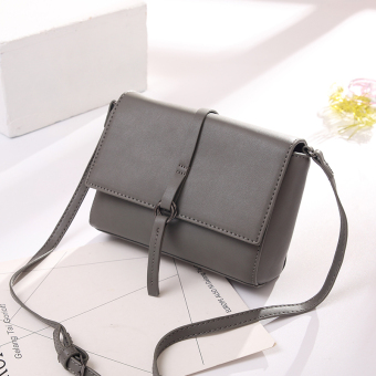 Small Square Korean-style female New style chain shoulder bag small bag (Elegant gray small)