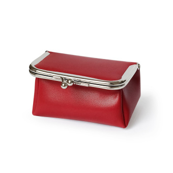 Small Square minimalist New style women's mini bag (Deep red)