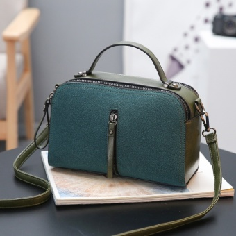 Small Square Shishang free summer versatile shoulder bag (Dark green color)