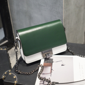 Small Square versatile New style shoulder bag (Dark green color)