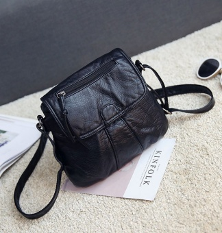 Small Square versatile soft leather washed women's bag New style women's bag