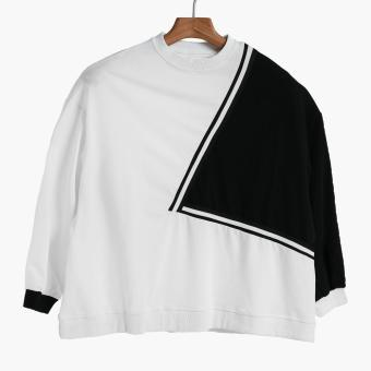 SMYTH Boys Teens Colorblock Sweater (White)