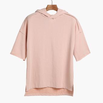 SMYTH Boys Teens Short Sleeves Hoodie (Pink)