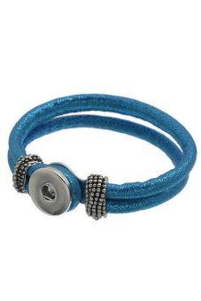 Snap Button Bracelet K80189 Blue
