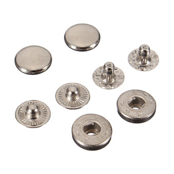 Snap Fasteners Press Stud Sewing Leather Buttons 15Pcs 10mm - picture 2