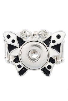 Snap Mini Button Ring B83466 Pale Silver