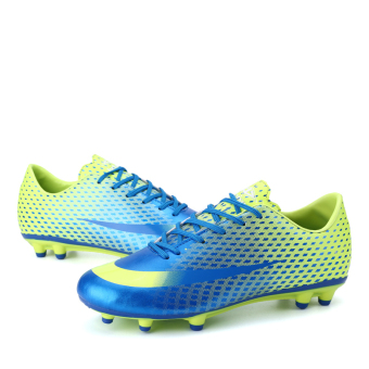 Soccer Shoes For Men Adults Professional Soccer Sneakers (Blue)