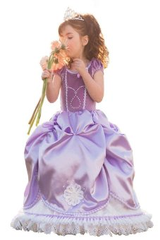 Sofia Princess Girls Dress Purple