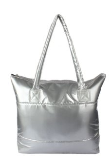 Space Bale Cotton Totes Handbag (Silver)
