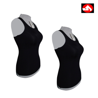 Spandex Body Fit Tank Tops (Black) Set of 2