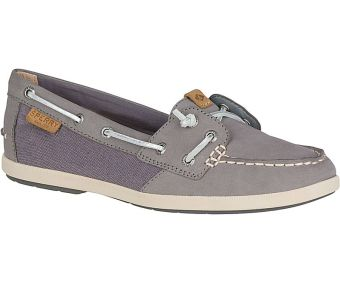 Sperry Women's Coil Ivy Leather/Canvas Boat Shoe (Grey) Price Philippines