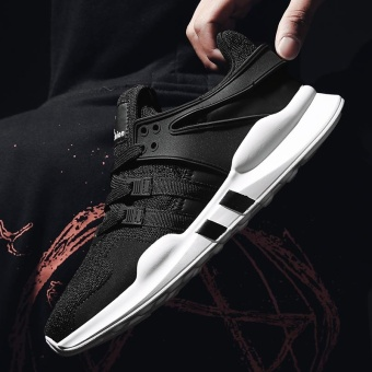 Sport Shoes Men Breathable Running Shoes Mens Sneakers Running Shoes For Men Outdoor Sports (Black) - intl - 3