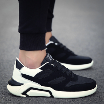 Sports autumn New style men shoes (Black and white)