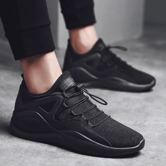 Sports casual canvas autumn running trendy shoes (All black)