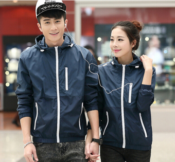 Sports Korean-style men spring New style waterproof coat (Dark blue color) (Dark blue color)