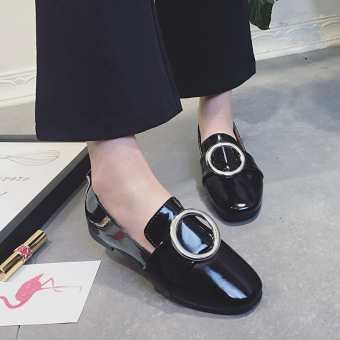 Spring and Autumn and autumn New style female shoes Korean-style small shoes (Black)