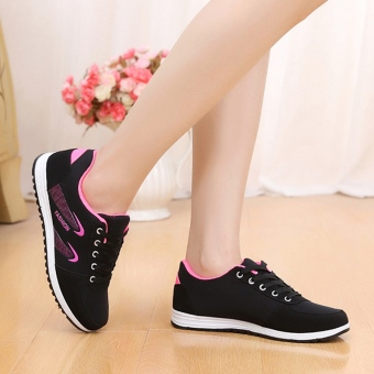 Spring and Autumn and autumn New style female shoes Korean-style sports shoes (Red)