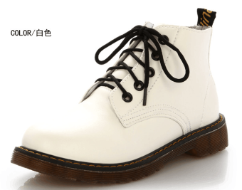 Spring and Autumn New style Martin boots (White)