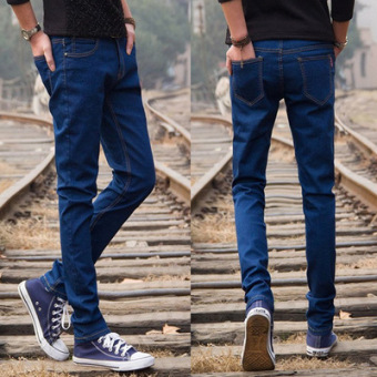 Spring and summer Thin Elastic Men's jeans (Shen Lan)