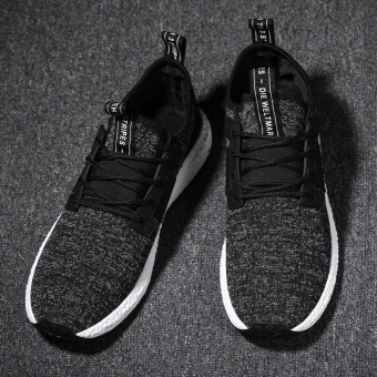 Spring Autumn Men's Sneakers 2017 Men Running Shoes Trending Style Sports Shoes Breathable Trainers Sneakers (Black) - intl - 5