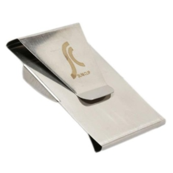 Stainless Steel Card Folder Double Sided Wallet Card Holder Money Clips - intl