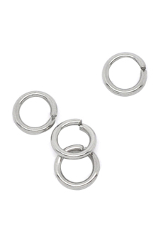 Stainless Steel Jump Rings B10270 Pale Silver