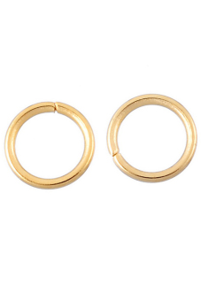 Stainless Steel Jump Rings B83600 Gold Plated