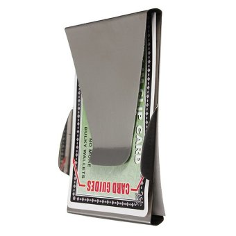Stainless Steel Money Clip Double Sided Cash Note Credit Card Holder Thin Gift