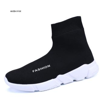 Star black men breathable men's cloth shoes socks shoes