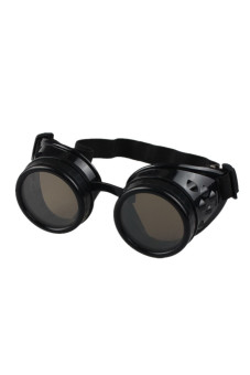 Steampunk Goggles Welding Punk Glasses Cosplay Black - picture 2