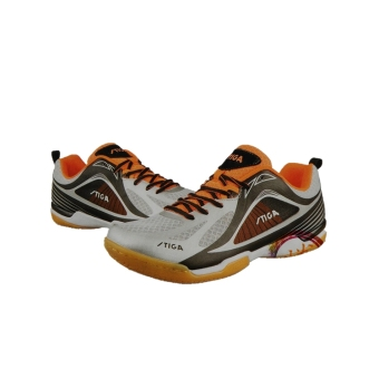 Stiga cs-8511 one-piece piece athletic shoes table tennis ball shoes (Silver orange)