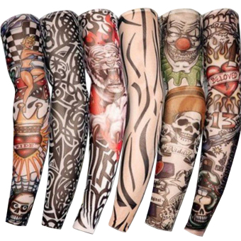 Stretchy Fake Temporary Tattoo Sleeves Body Art Arm Stockings
