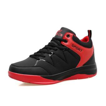 Student Men's Outdoors Sports Shoes Basketball Shoes for Mens (Black) - intl