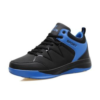 Student Men's Outdoors Sports Shoes Basketball Shoes for Mens (Blue) 919 - intl